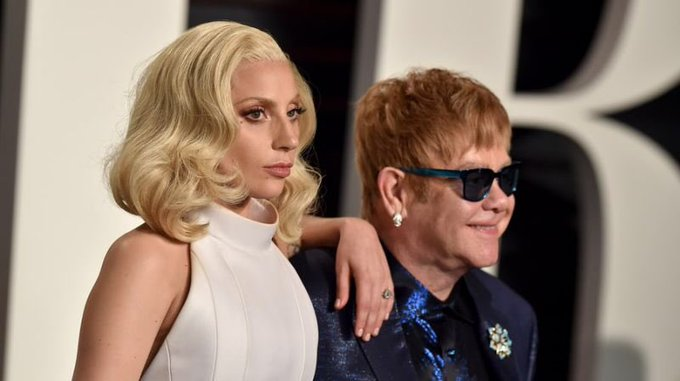 Lady Gaga, Stevie Wonder Sing \Happy Birthday\ to Elton John
