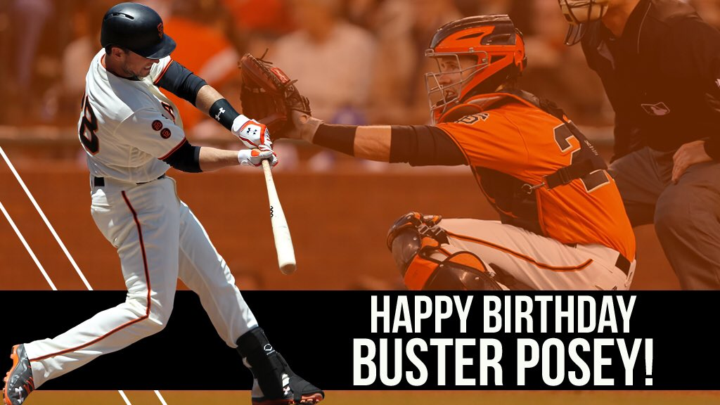 RT @SFGiants: Happy Birthday Buster Posey! 🎉 https://t.co/vA55eOZJ5b