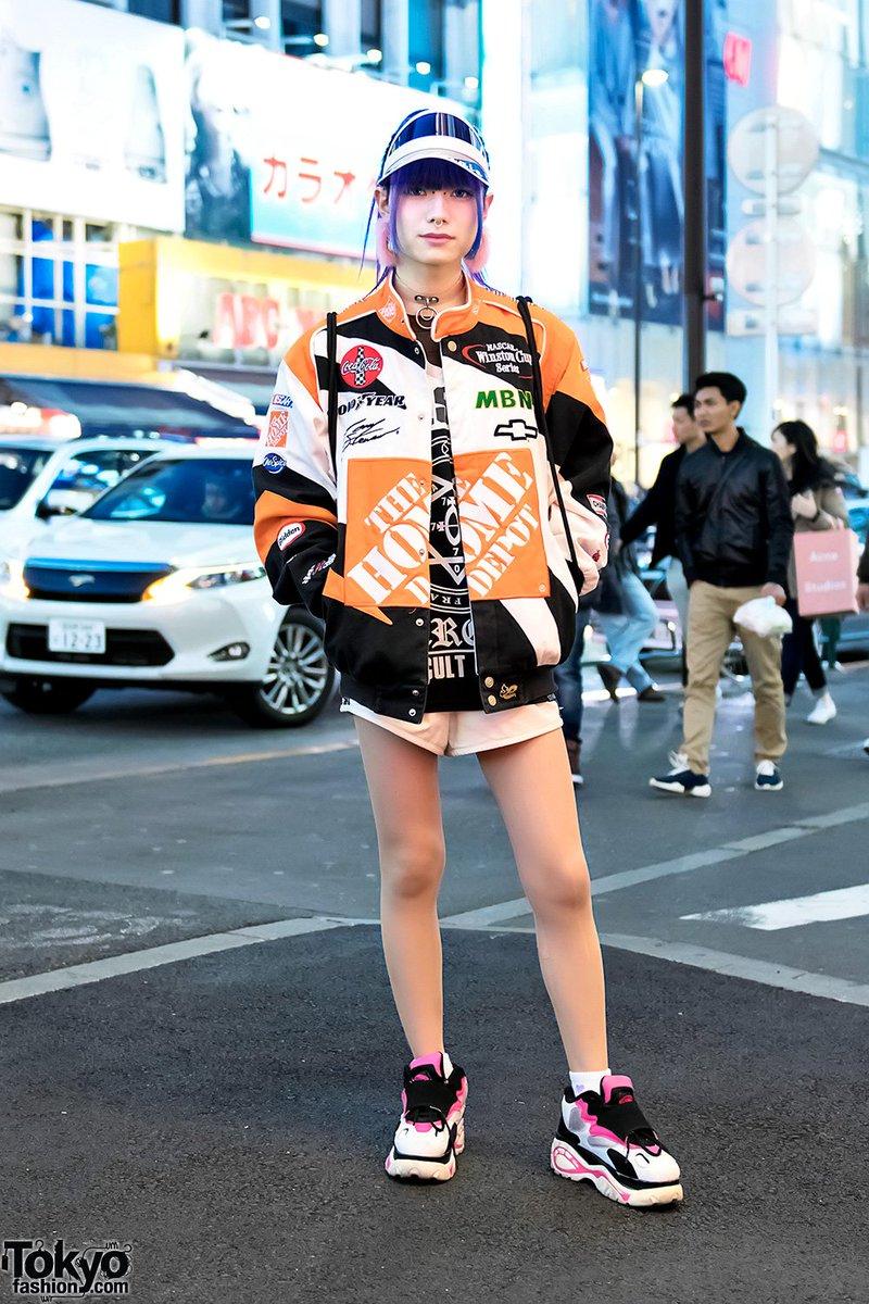 Japanese transgender model Layla in Harajuku w/ Home Depot jacket, Killstar, Glad News, Bubbles & Brooklyn Nets  #原宿https://t.co/oI78CVkvUg