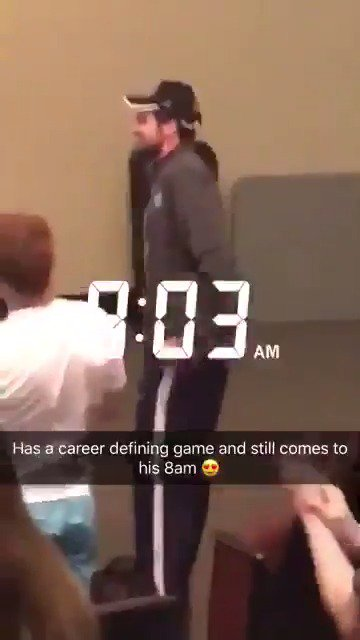 The definition of a student–athlete.UNC's Luke Maye attended his 8 am class today 👏 (via @JackSewell_)