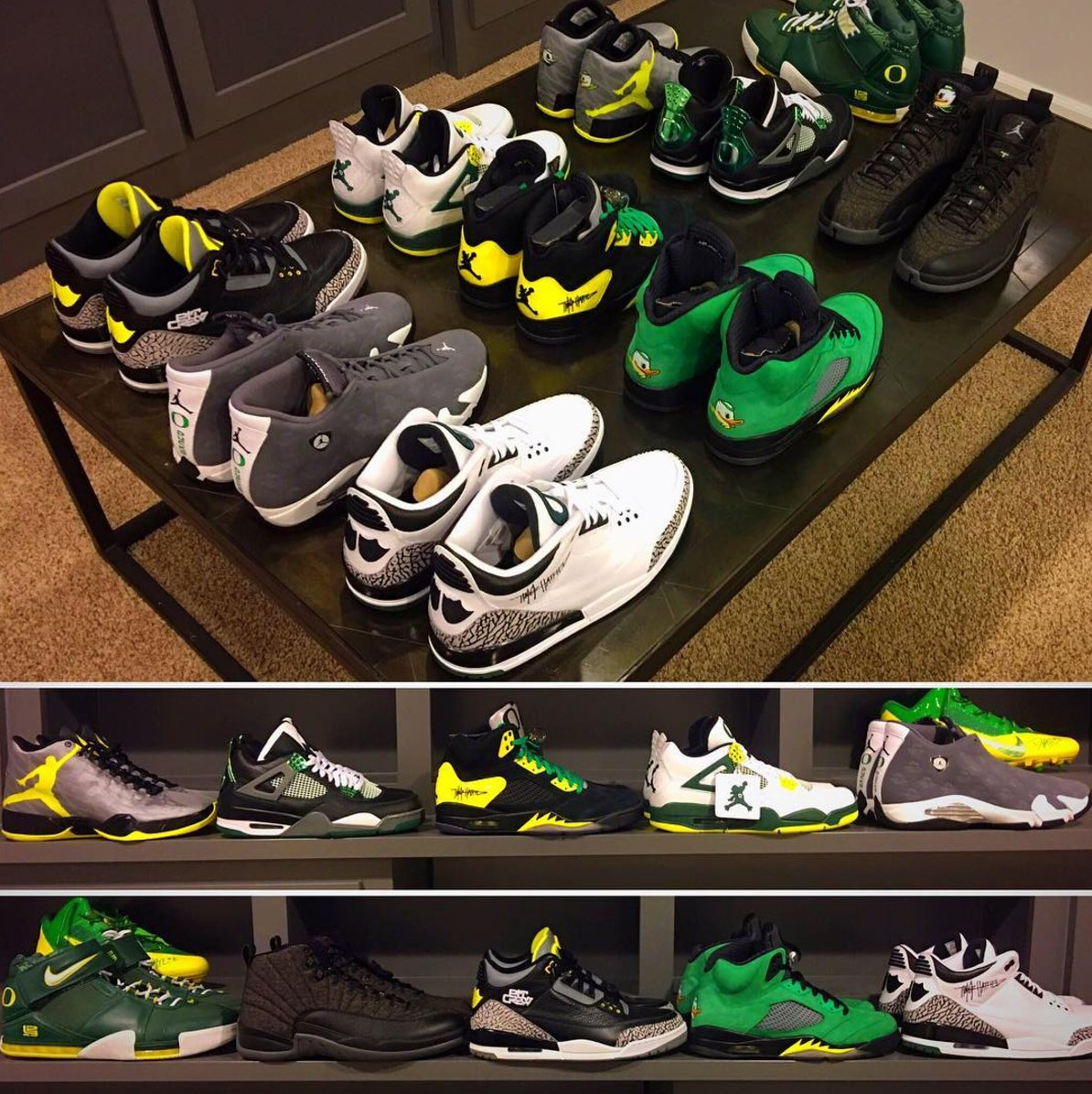 This Oregon Dunks PE collection is insane!  Which should he take with him to the Final Four?  📷 @a_maleet