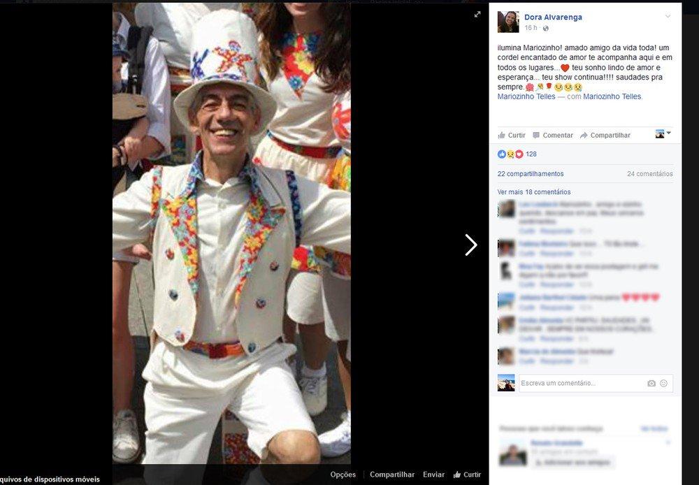 Ator e diretor de teatro Mariozinho Telles morre no Rio aos 64 anos https://t.co/U1Syfd21y2 #G1