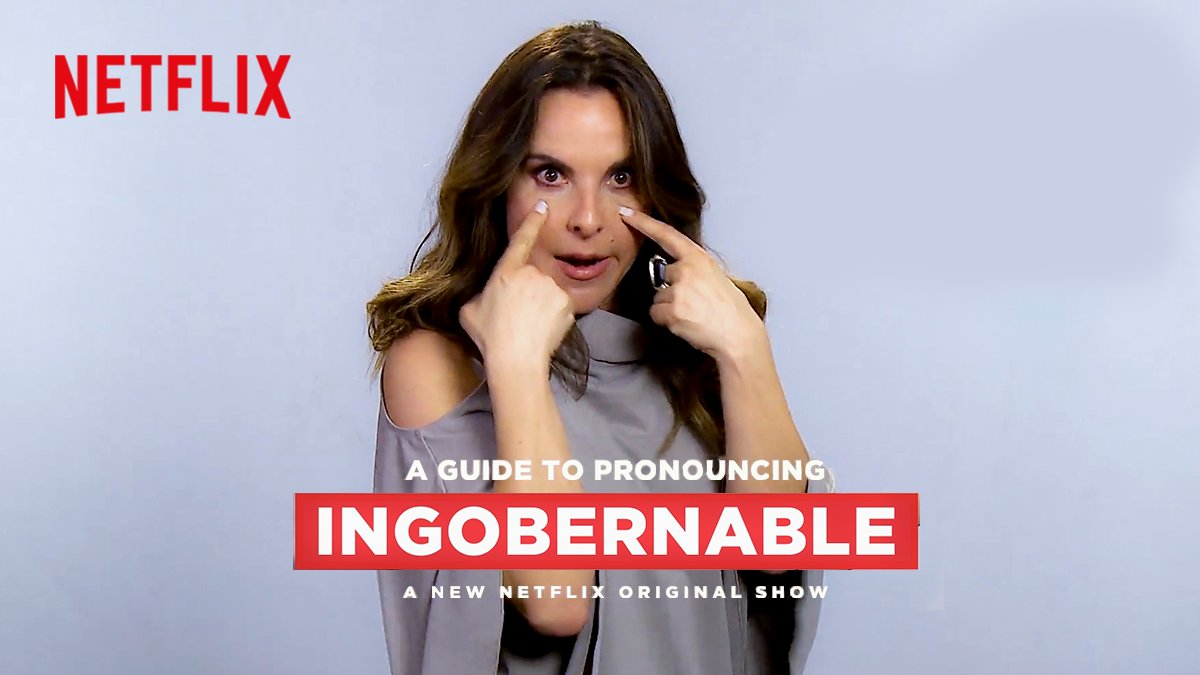 .@KatedelCastillo is here to teach you how to pronounce the name of her new show like a F pro. #Ingobernable https://t.co/moi3ZnSfzb