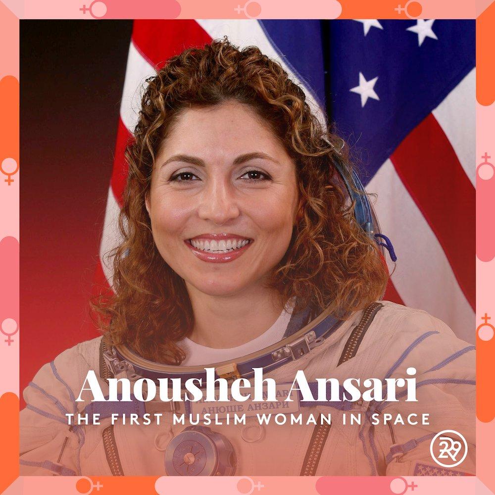 For #MuslimWomensDay, we're highlighting Anousheh Ansari, the first Muslim woman to travel to space 👏👏   #BreakingGlass #WomensHistoryMonth