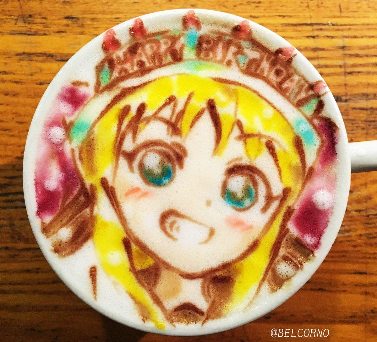 ラテアート【歳納京子】@ゆるゆり 本日お誕生日で一杯。Happy Birthday!#歳納京子生誕祭2017 #yuru