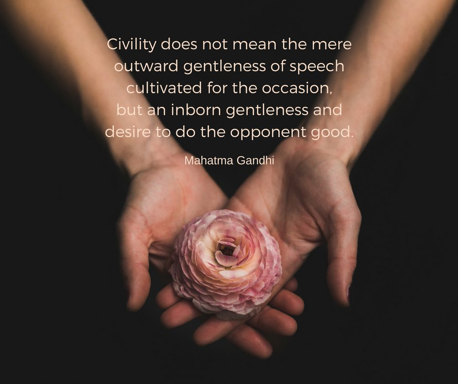 Civility does not mean the mere outward gentleness of speech cultivated for the occasion... https://t.co/69TlOvc5gw