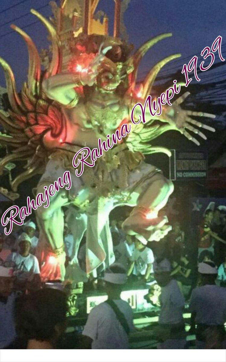 RT @PartaiSocmed: Rahajeng Rahine Nyepi tahun Caka 1939. Dumogi rahayu sareng sami 🙏 https://t.co/HDH5Fn5s5r