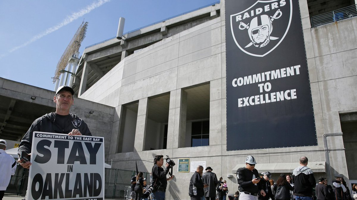 THIS JUST IN NFL owners approve Raiders' move from Oakland to Las Vegas