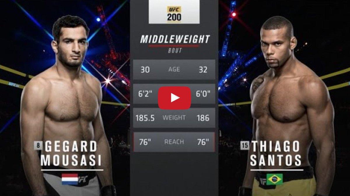 Free fight! Watch @Mousasi_MMA destroy Thiago Santos at #UFC 200 https://t.co/WBlxRrdh5n https://t.co/06dEArkQ2q