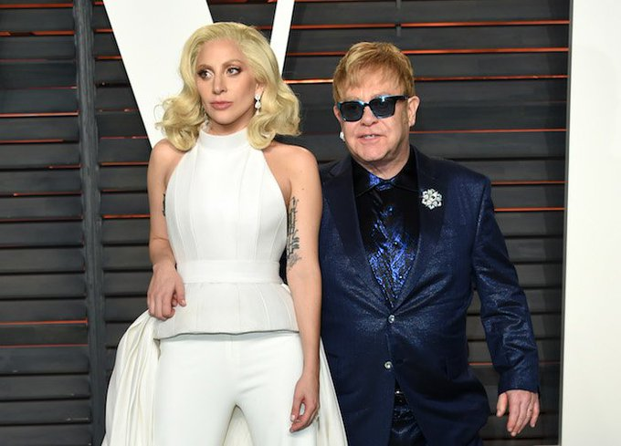 Lady Gaga & Stevie Wonder Sang \Happy Birthday\ for Elton John\s 70th: