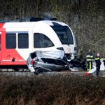 Man, toddler killed as car collides with Dutch train