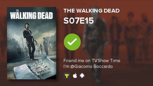 test Twitter Media - I've just watched episode S07E15 of The Walking Dead! #TWD  https://t.co/0dGAKxZzwd https://t.co/a5iVxwO0DA