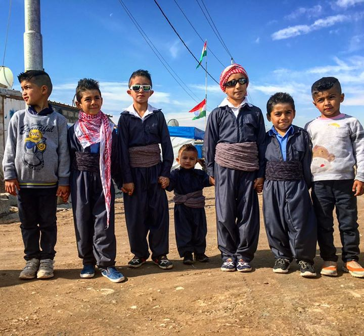 #foreverychild, friendship - no matter where they are.   Thanks @UNICEFiraq for this image of Syrian refugee friends in Kawergosk camp.