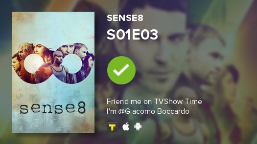 test Twitter Media - I've just watched episode S01E03 of Sense8! #Sense8  https://t.co/0R2jwMGeVs https://t.co/8YQkE7hbNJ