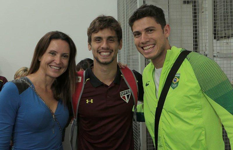 Medalhistas olímpicos, Maurren Maggi e Thiago Braz conheceram @RCaio03 no último domingo