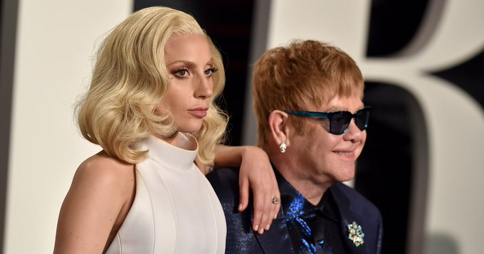 Lady Gaga, Stevie Wonder Sing \Happy Birthday\ to Elton John -