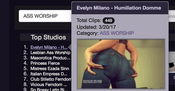 Who has the top rated ass on @clips4sale right now? Oh, just me. https://t.co/EAmoUUGC60 #assworship