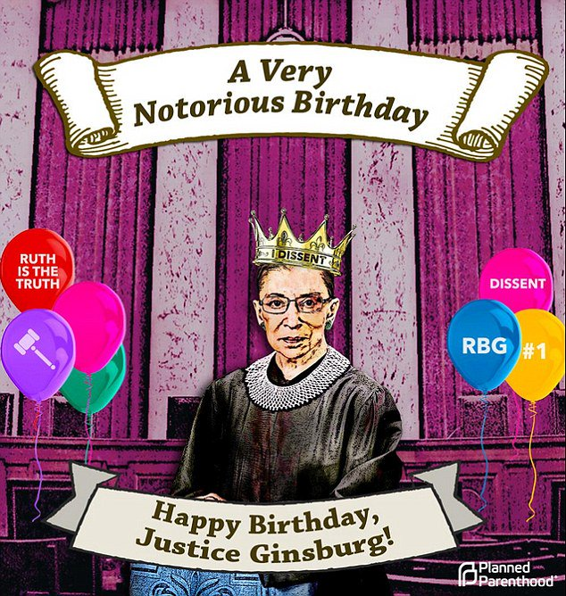 Happy birthday, Ruth Bader Ginsburg! I hope you have many, many more! I REALLY, REALLY DO.