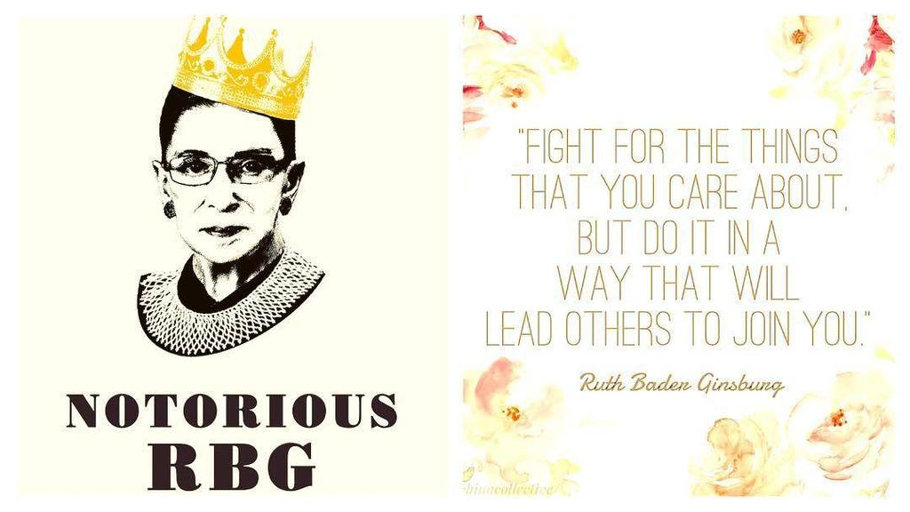 Happy Birthday to one of my favorite ladies, Justice Ruth Bader Ginsburg! Here\s to many m