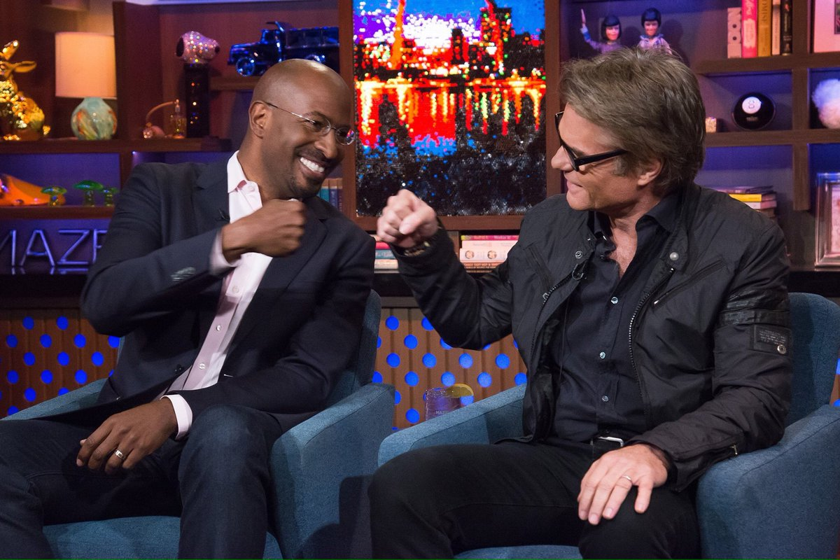 This is so cute!!!! New besties! @VanJones68 and HH #wwhl @andy https://t.co/BQUvTYXnqR