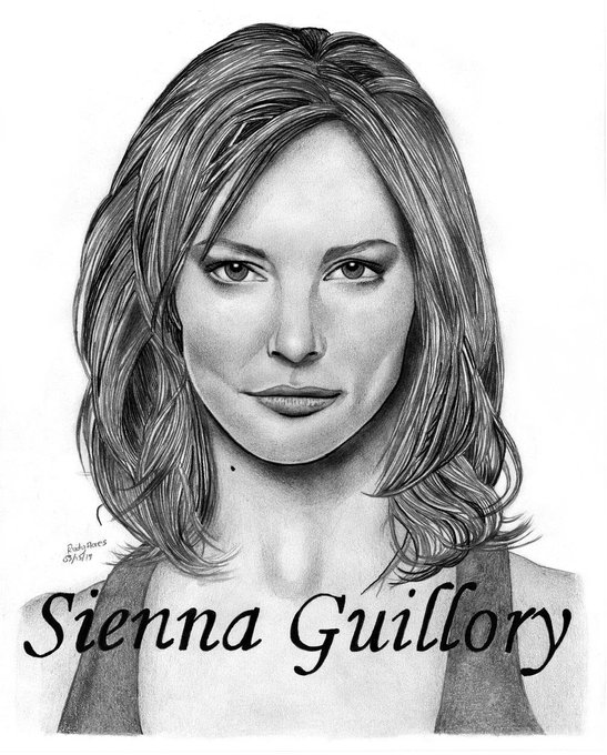 Happy Birthday To Very Talented And Beautiful Sienna Guillory ,I Drew This For You Hope U Like It .