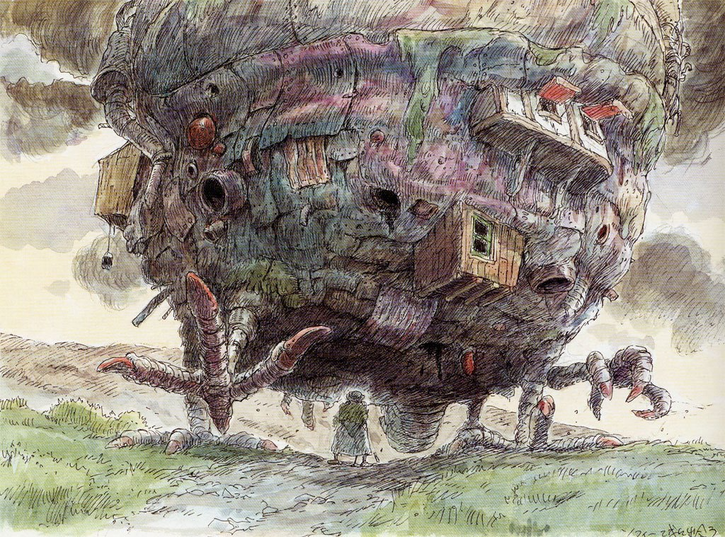 Visual development on Hayao Miyazaki's Howl's Moving Castleハ