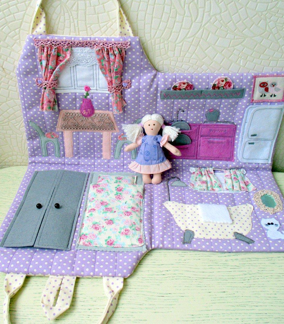 Текстильный домик для кукол своими руками