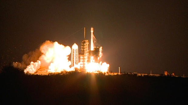 SpaceX Falcon 9 rocket boosts EchoStar communications satellite into orbit on second try:
