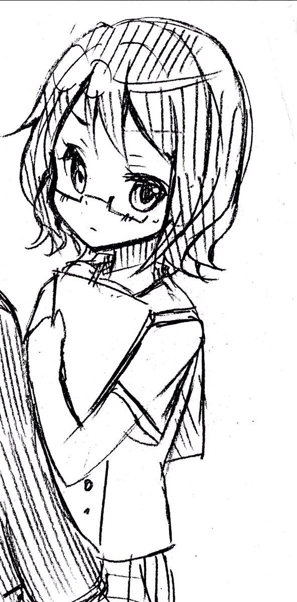 今日のお絵かき~ハナヤマタのマチ(≧◡≦)これで1頁マチで埋まりました☆