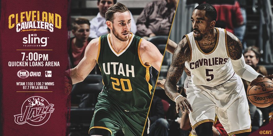 It's another gameday in The Land!  #CavsJazz PREVIEW: https://t.co/0P5hIx0QtF https://t.co/M3DjJMq65h
