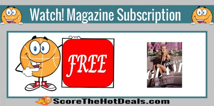 *FREE* Watch! Magazine Subscription!free freebies freebie freemagazines