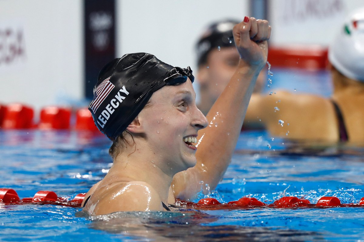Katie Ledecky wins first individual NCAA title with American record via @NBCSports