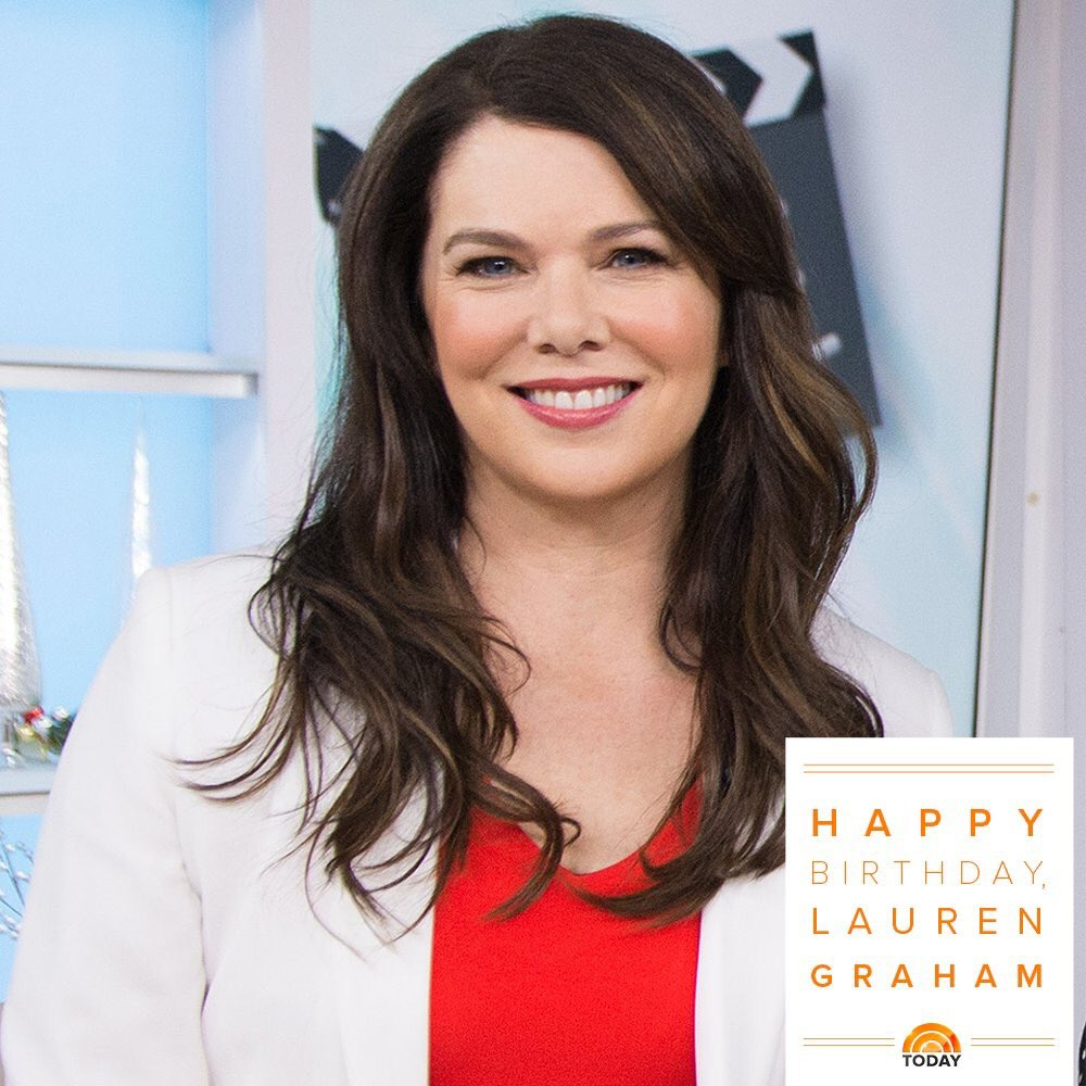 Happy 50th Birthday to my favorite tv Mom ever, the beautiful and talented Lauren Graham!