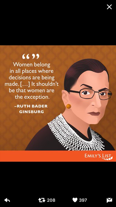 Belated Happy Birthday to our fearless Ruth Bader Ginsburg