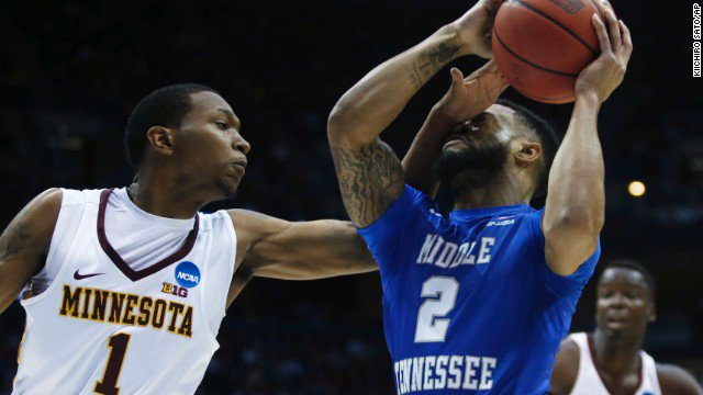12-seed Middle Tennessee beats 5-seed Minnesota for first upset of the 2017 NCAA Tournament.