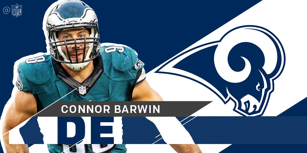 .@RamsNFL sign @ConnorBarwin98 to one-year deal: https://t.co/N4u2tBuOwk https://t.co/vDY6M8o6p1