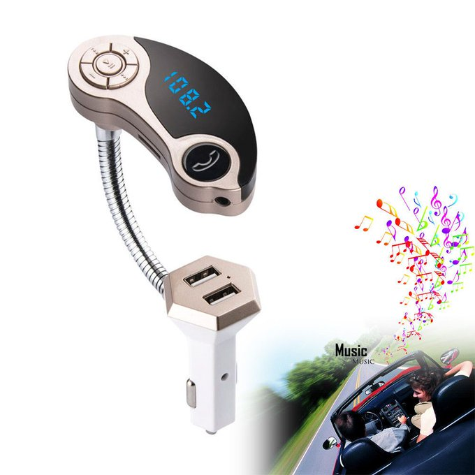 #free #music #win #style #follow #giveaway #mp3 LCD Bluetooth Car Kit MP3 Player FM Transmitter USB Charger For iPhone Samsung #rt