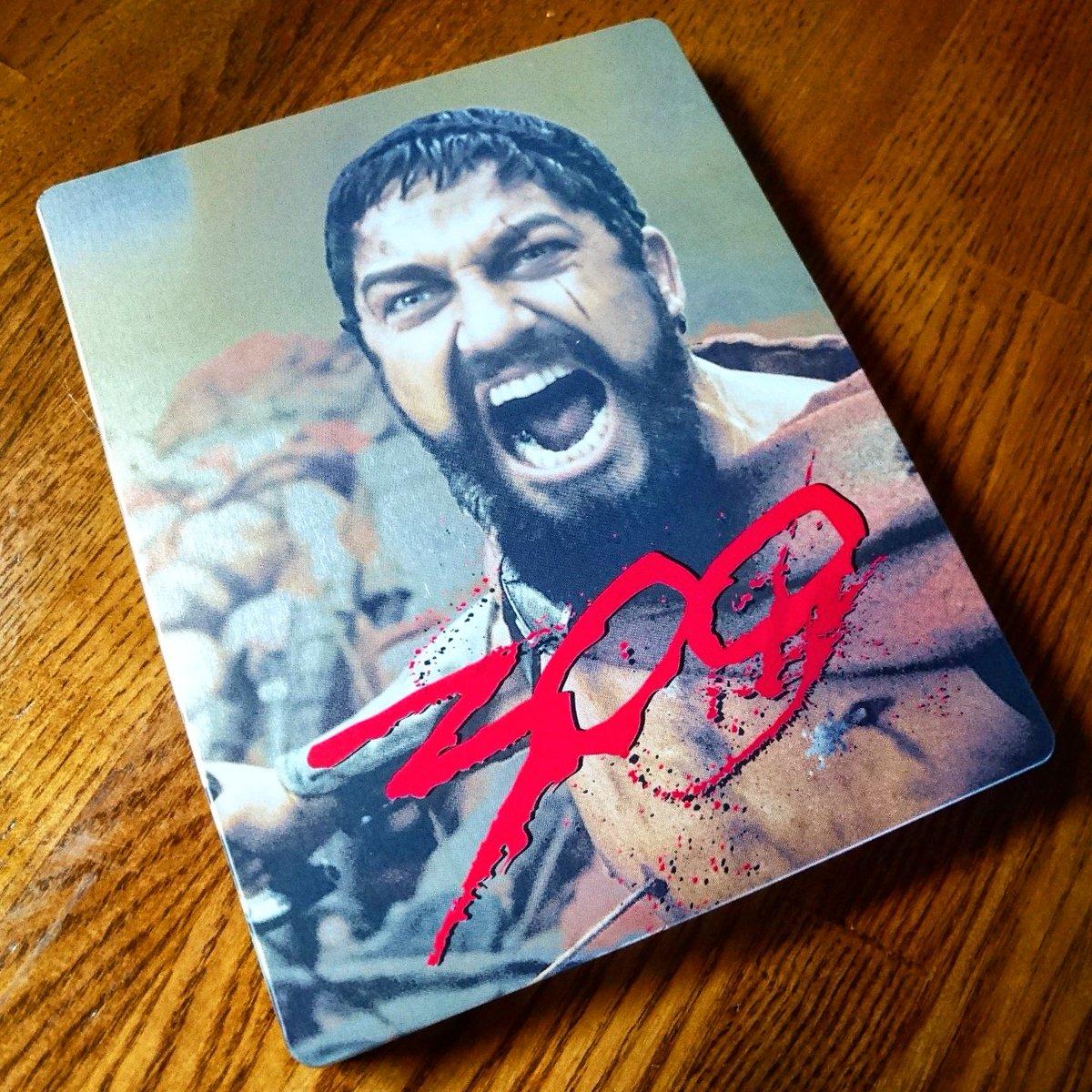 スチールブック12枚目は『300(スリーハンドレッド)』スパルタ軍大好きマンだからこのデザインは堪らない。#スチールブッ