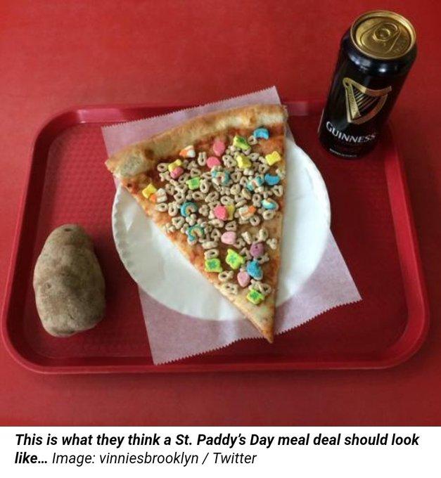 LMAO #StPatricksDay fail of a lunch https://t.co/rd9LrDM28v