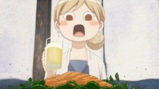 ついにワカコ酒で登場する「ウニクレソン」を食する日が来た。パクついてウニの生っぽさとホウレンソウの青みが見事にマッチング