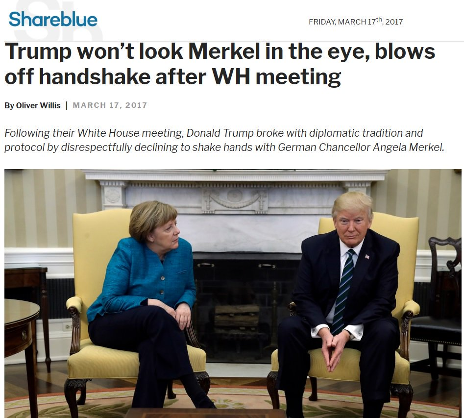 Merkel: 'You have lovely hands, Donald. Do they also make those in adult sizes?' Trump: https://t.co/l5XSMXI0HU