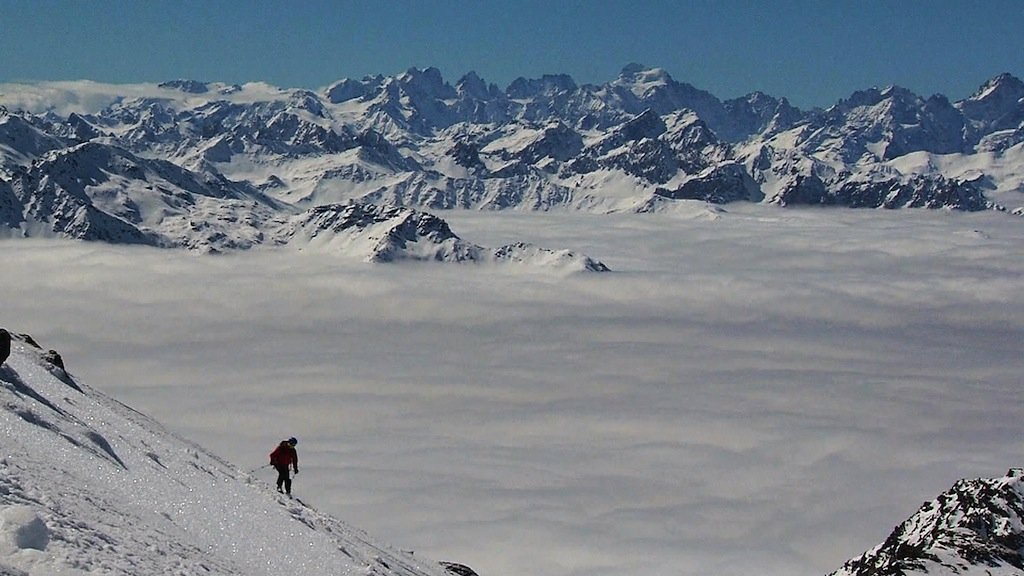 YOU ARE HERE - A winter wonderland for skiers in the French Alps