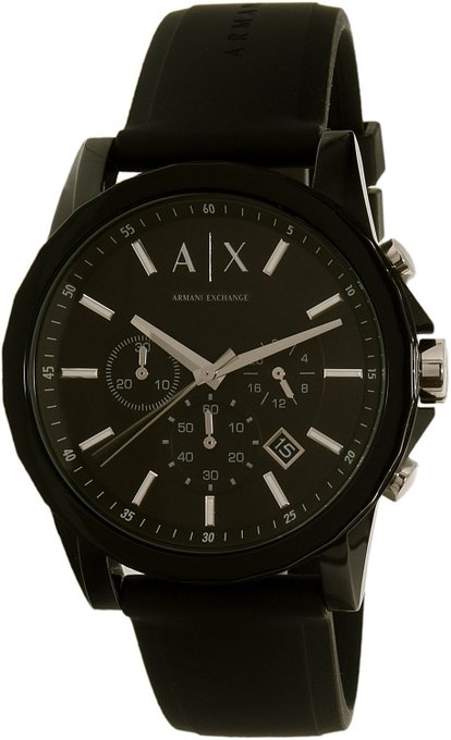 #free #fashion #watches #win #giveaway #np Armani Exchange Men's AX1326 Black Silicone Quartz Watch #rt