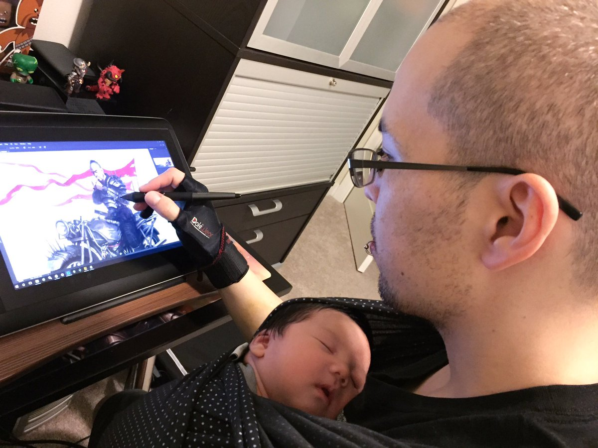 test Twitter Media - My current workstation. @wacom #babywearing #1monthold #sollybabywrap #wacomcompanion #wacom https://t.co/u79dEpTv35