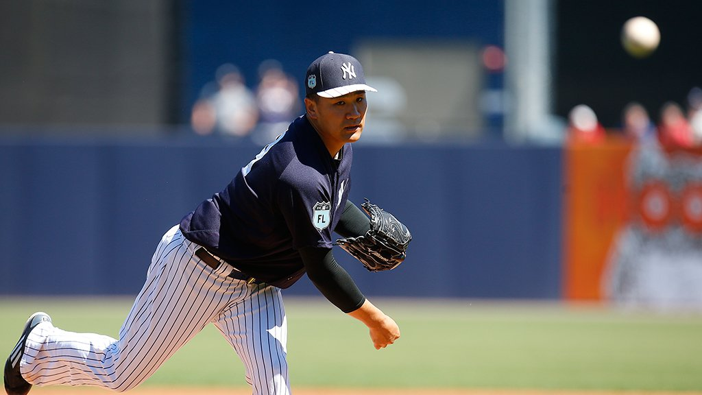 .@Yankees complete #SpringTraining no-hitter after @t_masahiro18's stellar start. https://t.co/GXiSLMkqbK https://t.co/TDjuI8mBjR