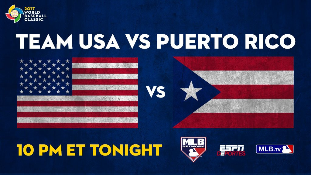 Team USA and Puerto Rico meet with the Pool F lead at stake. https://t.co/srcyXrnHlC #WBC2017 https://t.co/kO6LgaxI3u