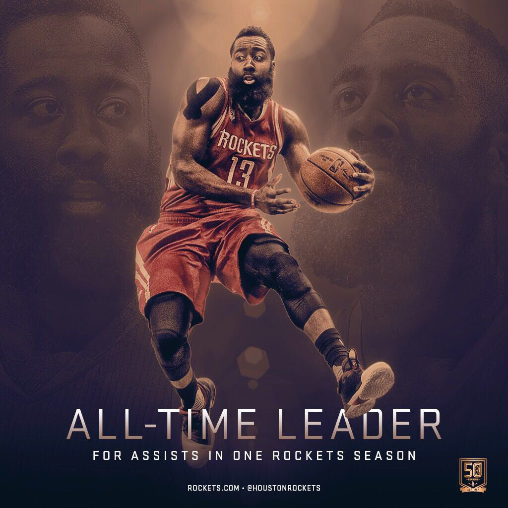Another night, another new record for @JHarden13! �� https://t.co/6mGWHAUJs9