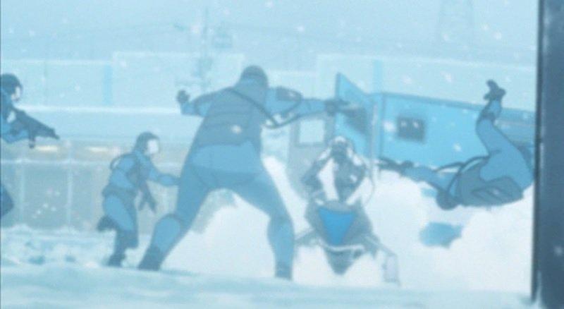 どっちに逃げれば?シカが猛スピードでゲレンデ激走 3/17 16:11#残響のテロル 1.FALLING ツエルブの運転