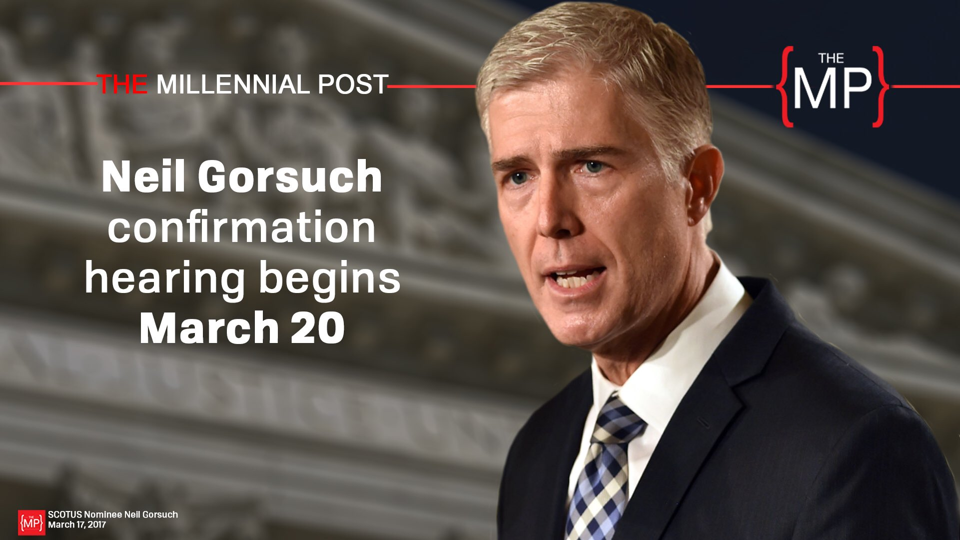 SCOTUS nominee Neil Gorsuch confirmation hearing will begin Monday, March 20th. #SCOTUS #NeilGorsuch #Gorsuch https://t.co/4wJaQO7RoB