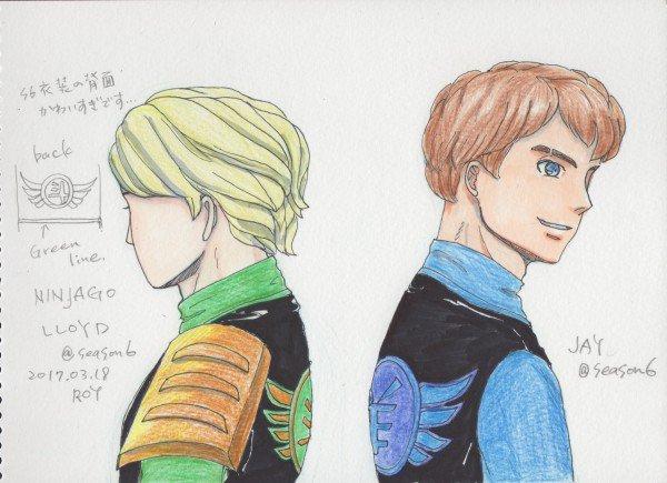 #ninjago  season6  Lloyd & Jayニンジャゴーの装束はぱきっとした配色がカッコイイです